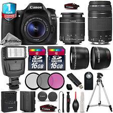 Canon EOS 80D DSLR Camera + 18-55mm IS + 75-300mm + Flash + EXT BAT + 1yr Wrnty