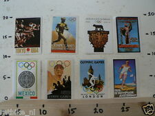 STICKER,DECAL OLYMPIC GAMES ,LOT OF 8 DECALS,MELBOURNE,TOKYO,GERMANY,LOS ANGELES