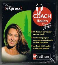 ITALIEN - LE COACH - VOIE EXPRESS - 8 CD - NATHAN - NEUF NEW NEU
