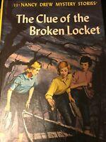 Vintage Nancy Drew #11 the clue of the Broken Locket  1965 copyright Matte