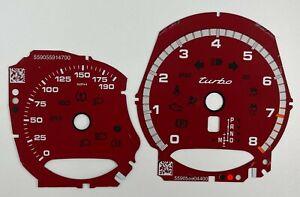 Porsche Macan Turbo speedometer Dial 190MPH dark red