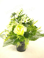 Artificial Cream Cabbage Rose with Freesia Artificial Flowers