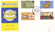Guernsey 1974 Universal Postal Union FDC Unadressed VGC
