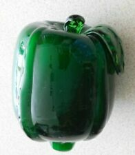 Decorative Hand Blown Glass Murano Style Fruit Darker Green