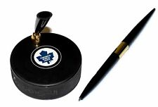 Toronto Maple Leafs Autograph Style NHL Hockey Puck Desk Pen Holder