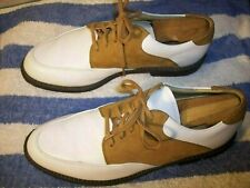 Nike Bella Last Womans 9 White Leather - Brown Nubuck Golf Shoes