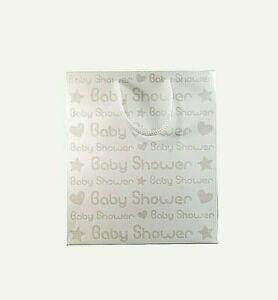 Baby Shower White & Silver Glitter Gift Bags Small Medium Large Boy Girl Unisex