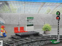 Lego City Railway Station platform signal passenger train from set 60197 New