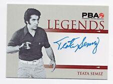 2008 Rittenhouse Heroes and Legends Bowling PBA Autographs #18 Teata Semiz