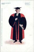 1902 Oxford University Robes Professor Doctor of Divinity Vintage Postcard
