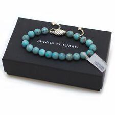 New DAVID YURMAN 8mm Spiritual Bead Bracelet; Silver, Chinese Turquoise NWT
