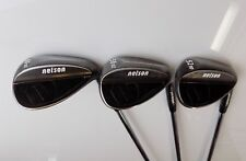 Set of 3 x Nelson Pro Forged Wedges Gap Sand & Lob Wedge Steel Shafts