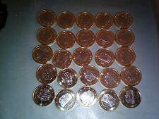 Andorra 2014  25 monedas , coins , monete 1€ de tirada anual sin circular, new
