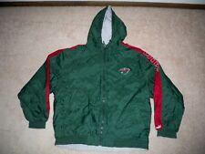 Vintage Puma Minnesota Wild Hockey NHL Green Gray Reversible Jacket Coat Size XL