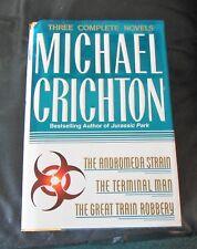 Michael Crichton: (3 Novels) Andromeda Strain; Terminal Man; Great Train Robbery