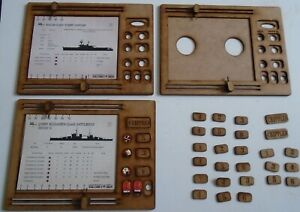 3x Victory at Sea Card Holder Dashboard Token holder and Hull Point