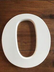 Pottery Barn Kids 8 Inch White Wood Wall Letter - O