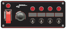 Longacre 44869 Start Ignition Panel with Four Accessory Switches #1755