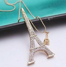 #7049 Korean Stylish Eiffel Tower  Long Sweater Necklace
