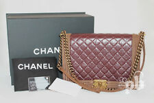 Chanel Le Boy Large Lambskin Leather & Suede Double Handles Shoulder Bag