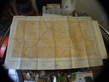 "Vintage Rare 1942 Restricted Aeronautical Chart Map Butte, Montana 40"" X 24"""