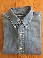Ralph Lauren Blaire (XL) Men's Button Collar Denim Shirt Ex Con