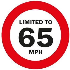 LIMITED TO 65MPH Vehicle speed restriction sticker VAN WAGON 120 x 120mm