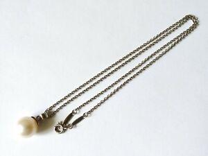 """Tiffany & Co 925 Silver Elsa Peretti Spain Pendant Necklace 16"""" (4.6 Grams)"""