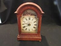 "Table Clock Edward Dillon Waterford England White Face Hunting Scene 7.1/2"" tall"