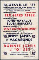 Vintage Manor House BLUESVILLE 1967 flyer:Mayall/Ten Years After/Savoy Brown etc