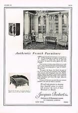 1925 BIG Vintage Jacques Bodart Inc French Furniture Photo Print Ad