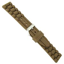 20mm Trendy Fashionable Chocolate Brown Rubber Silicone Waterproof Watch Band