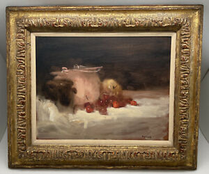 Seymour Remenick Original Still life Oil Painting W/ NYC Gallery Label