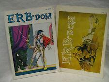1975 vintage ERB DOM #79 & 81 Edgar Rice Burroughs fan magazine TARZAN lot mars