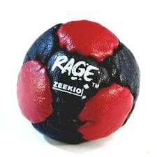 Zeekio The Rage Footbag - 14 Panel Leather Pellet Fill - Red and Black