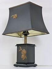 TRES CHIC LAMPE D'AMBIANCE NOIRE A LA ROSE 1970 VINTAGE DESIGN 70's 70S LAMP