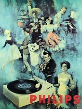 3230.Philips Record Player World of Music POSTER.Room Home School art decoration