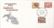 1982 Reptiles & Amphibians (16 June) FDC - Morningside Qld 4170 PMK