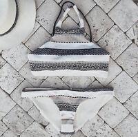 2017 Sexy Women Swimwear Beachwear Bikini Padded Swimsuit Bathing Suit Halter