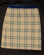 New Boden UK 6R US 2R Wool Skirt British Tweed By Moon Blue Tan Career Women