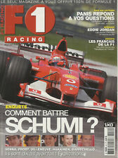 F1 RACING n°42 08/2002 SCHUMACHER OLIVIER PANIS JORDAN