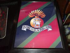 THE ROYAL DUBLIN FUSILIERS REGIMENT REGIMENT CREST PRINT A4