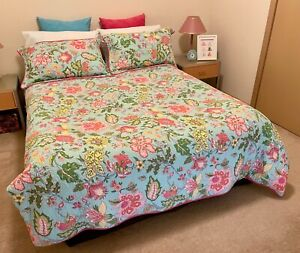 As New Double Bed Adairs Quilted Doona Cover Set