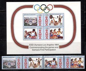 SAMOA 1984, SPORT: LOS ANGELES OLYMPICS, Scott 629-632,632a. MNH