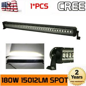 39inch 180W LED Light Bar Spot Flash Strobe Driving Fog Vehicle Hummer RZR 38/40