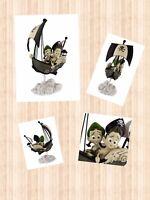 "Disney Peter Pan Ride  ""Journey To Neverland""  Figure Figurine By Noah Gift"