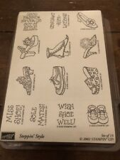 2002 Stampin Up!  Steppin' Style Set of 13 Stamps Unmounted