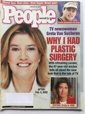 GRETA VAN SUSTEREN 2002 PEOPLE Magazine TOM BRADY / ROSE McGOWAN / DANIEL PEARL