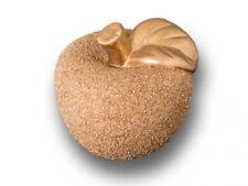 Deko Keramik Apfel Gold Ø10cm mit gesandeter Oberfläche - schneller Versand –