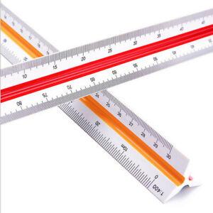 Triangular Metric Scale Ruler Engineer Tool 12.6'' Multicolour 30cm 1:100~1:500